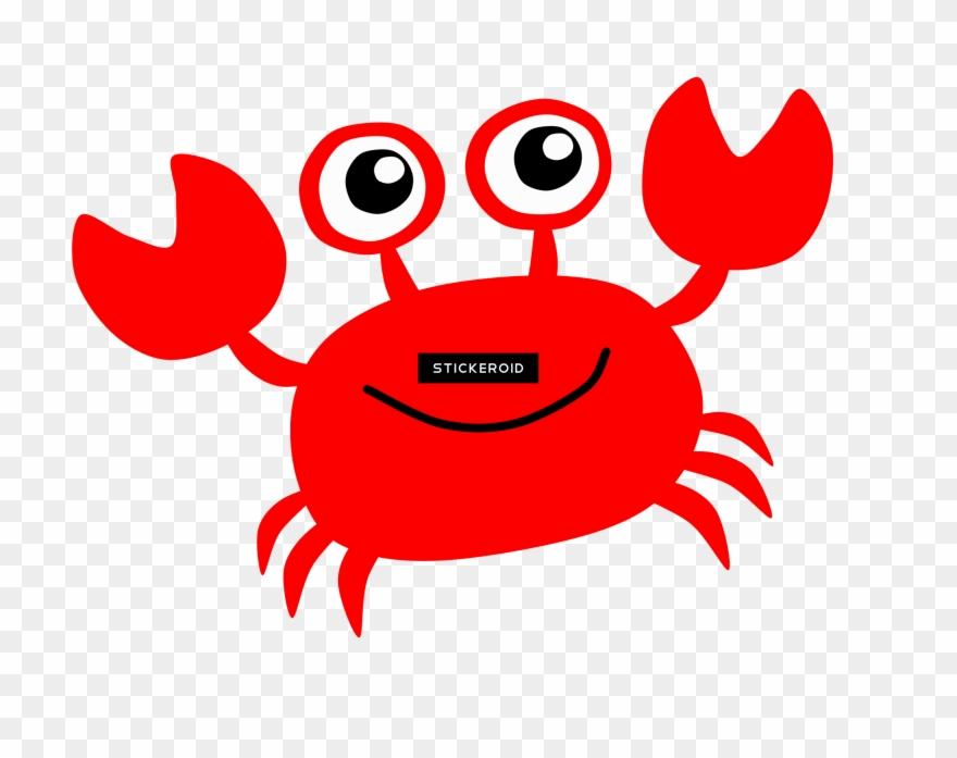Crab clipart friendly. Red cartoon pinclipart