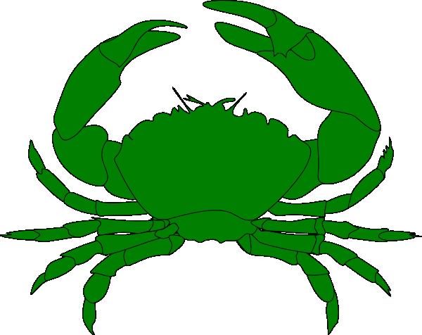 Clip art at clker. Crab clipart green
