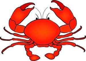 Clip art painting . Crab clipart illustration