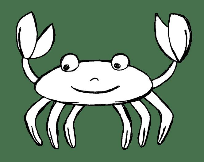 Crabs clipart toon. Cartoon crab black and