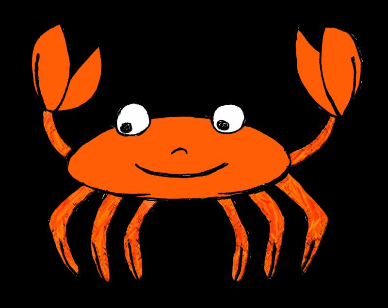 Crab clipart land water animal.  black white animals