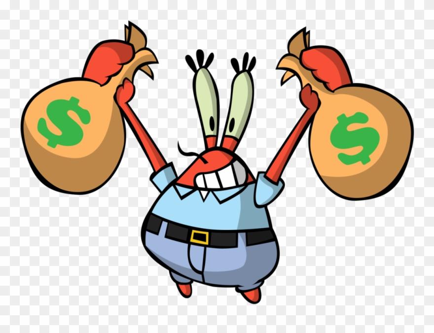 Mr clipart background. Crabs crab krabs money