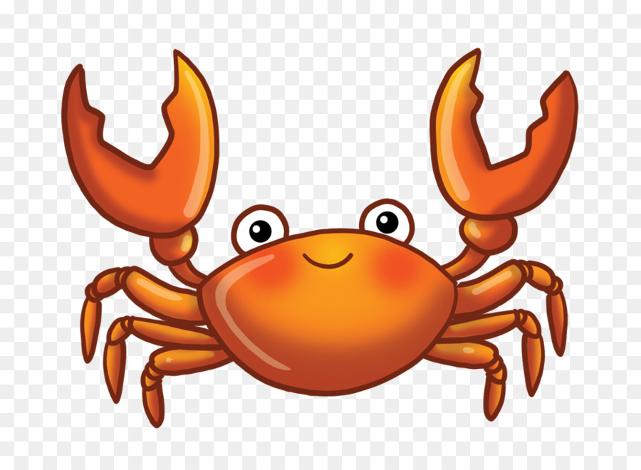 Crab clipart orange crab. Seafood background cartoon