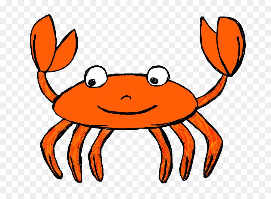 Sea cartoon food transparent. Crab clipart orange crab