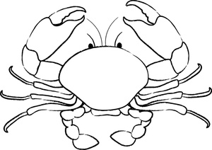 Free crab cliparts download. Crabs clipart outline