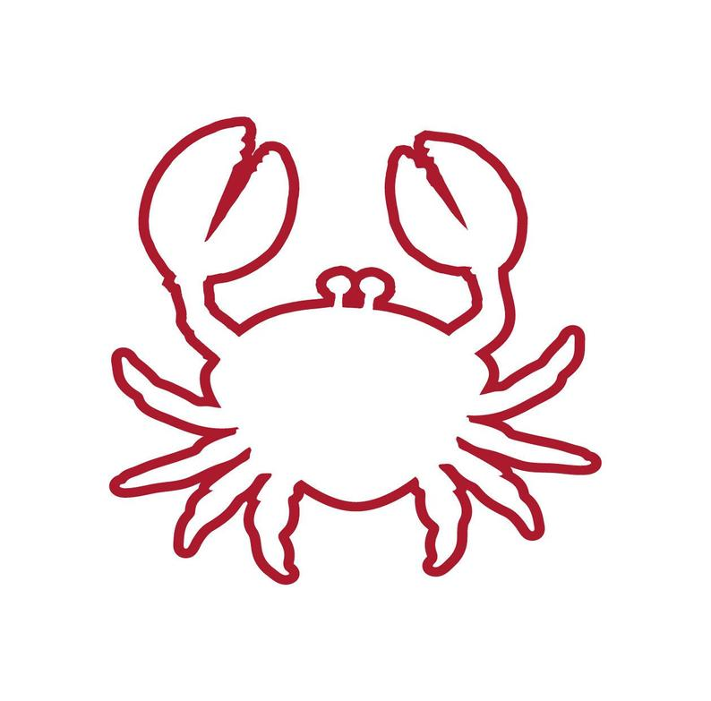 Crabs clipart outline. Svg cute crab cutting