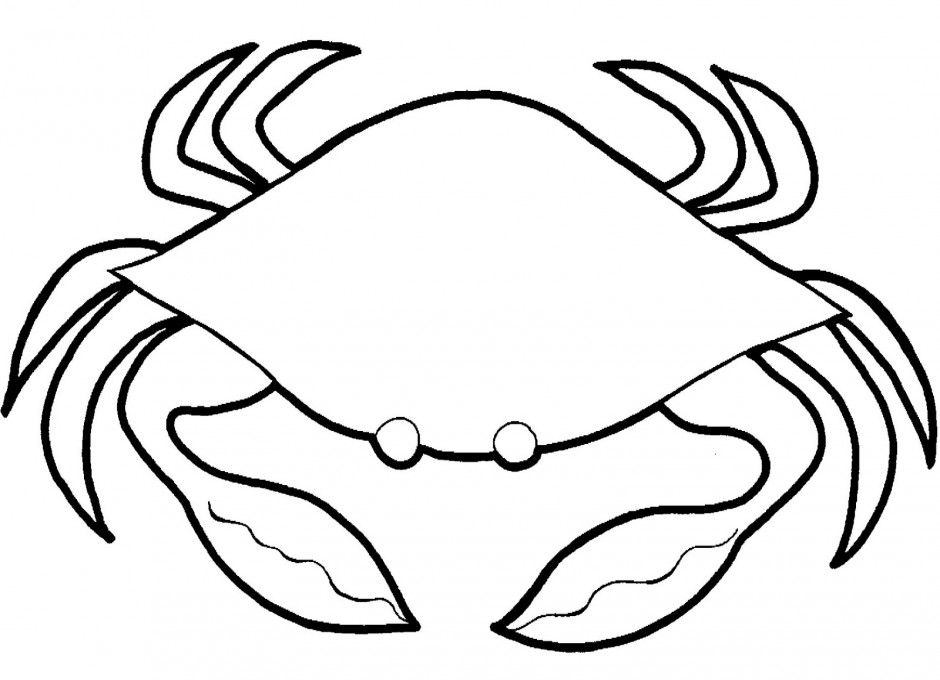 Free crab cliparts outline. Crabs clipart black and white
