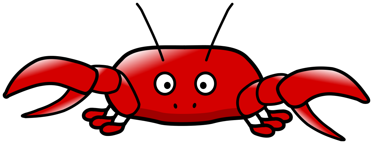 Free cartoon pictures download. Crab clipart pdf