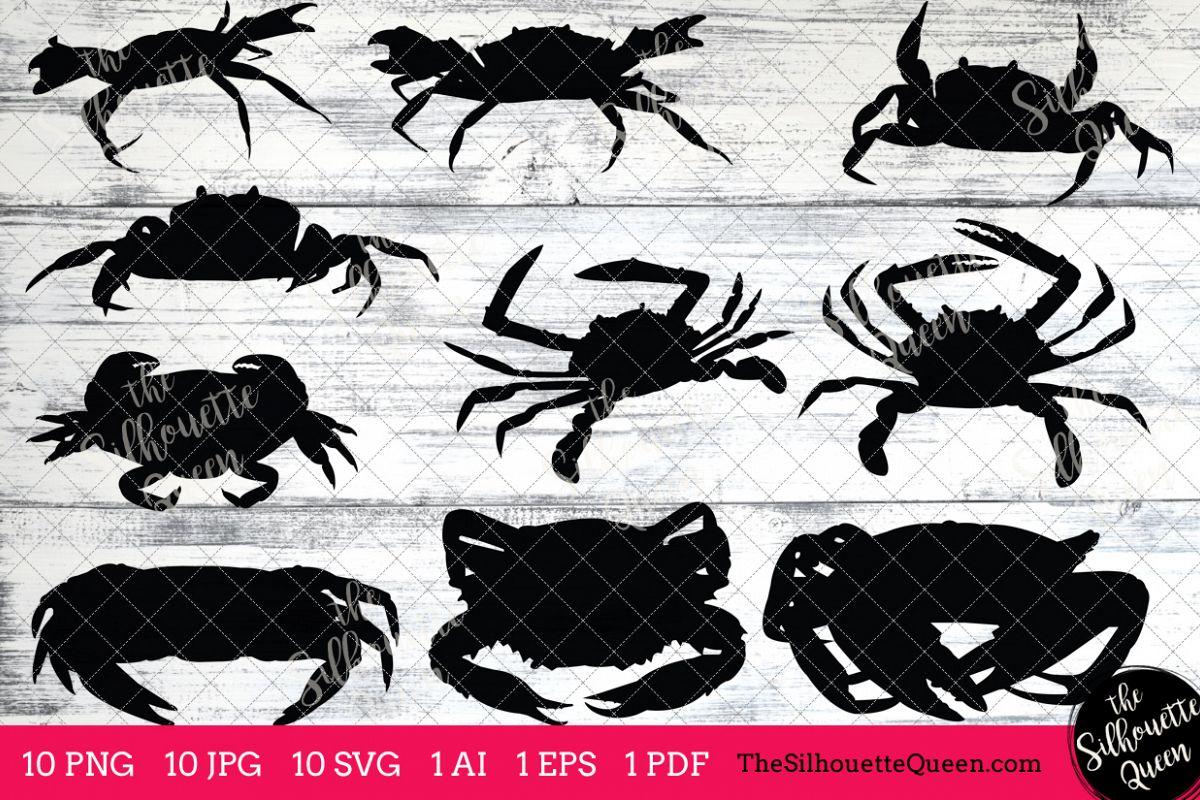 Silhouettes clip art ai. Crab clipart pdf