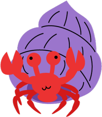 Crab clipart purple crab. Hermit transparent cartoon jing