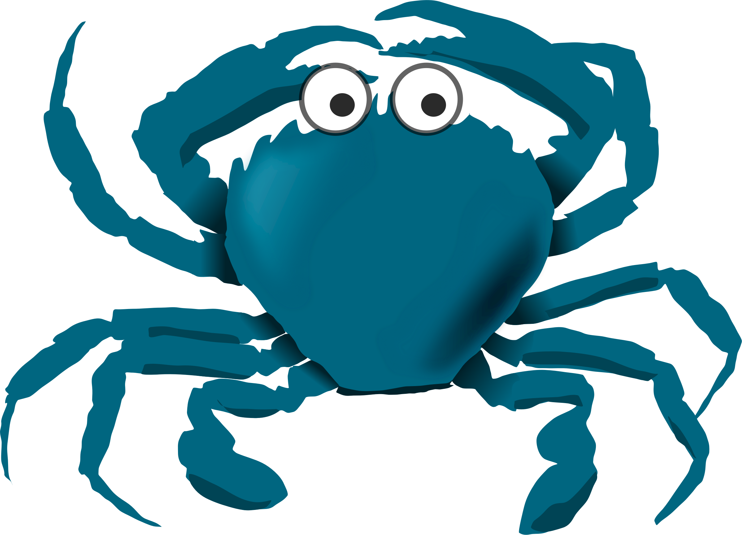 Blue cartoon icons png. Crab clipart red thing