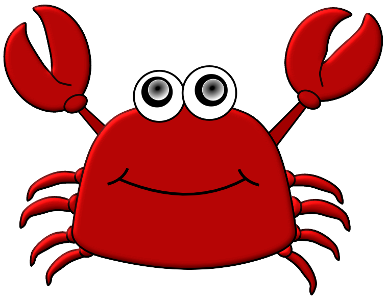 Crab clipart red thing.  collection of images