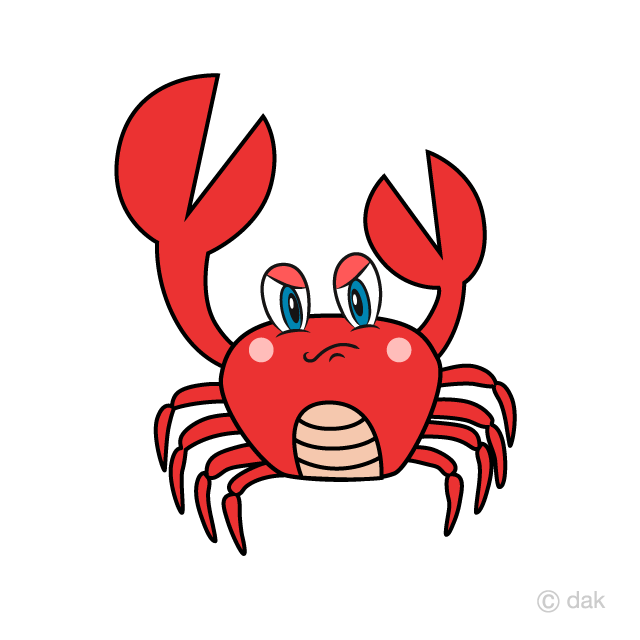 Angry cartoon free picture. Crab clipart red thing