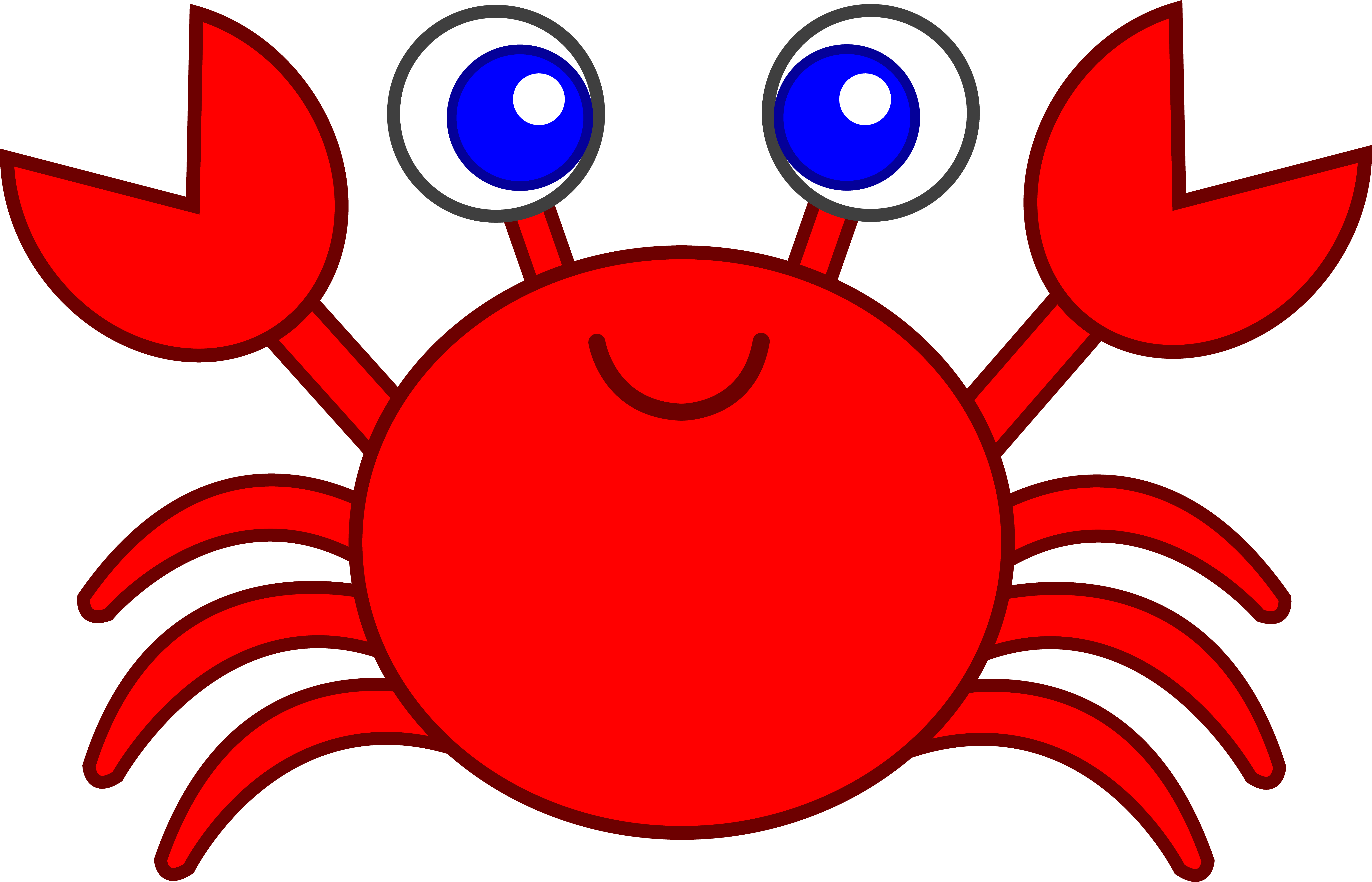 d cd b. Crabs clipart red whale