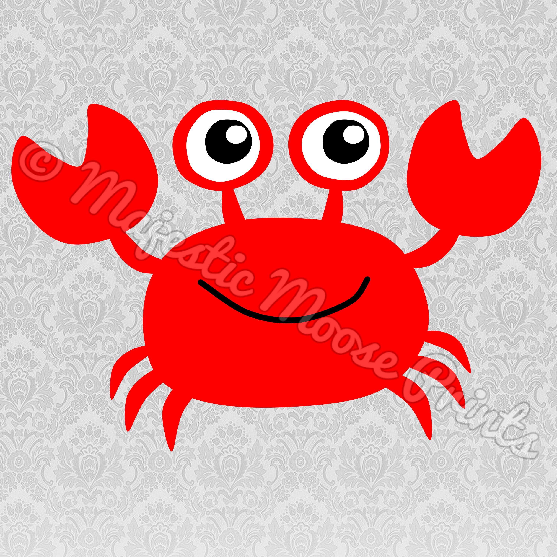 Majestic moose prints cute. Crab clipart sad crab