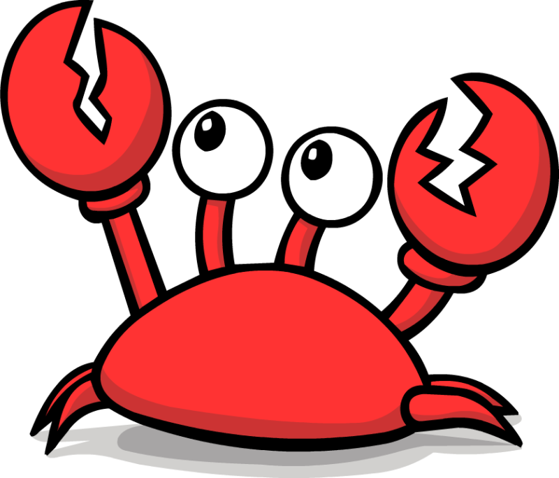 Cartoon ourclipart pin . Crab clipart sad crab
