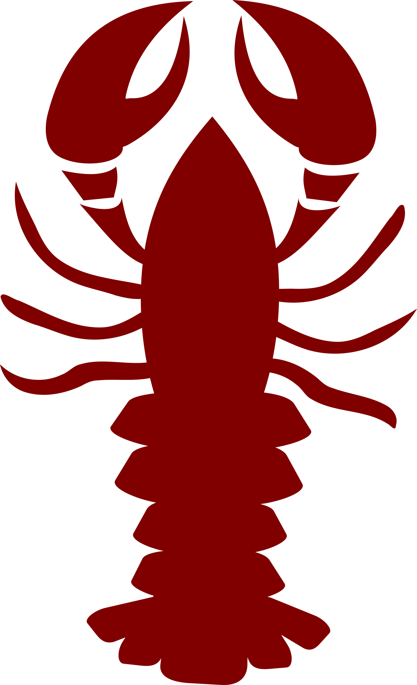 Silhouette clip art at. Lobster clipart lobster roll