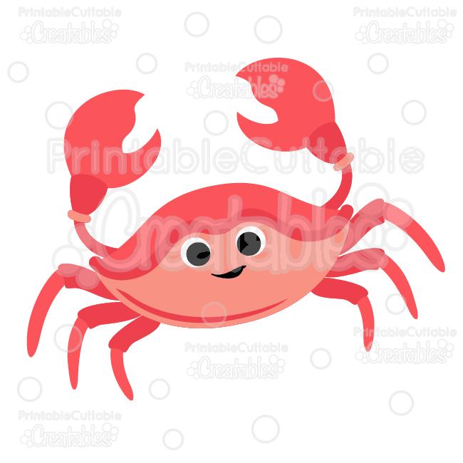 Cute crab svg cut. Crabs clipart file