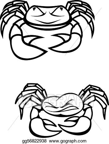 Vector art crabs drawing. Crab clipart two