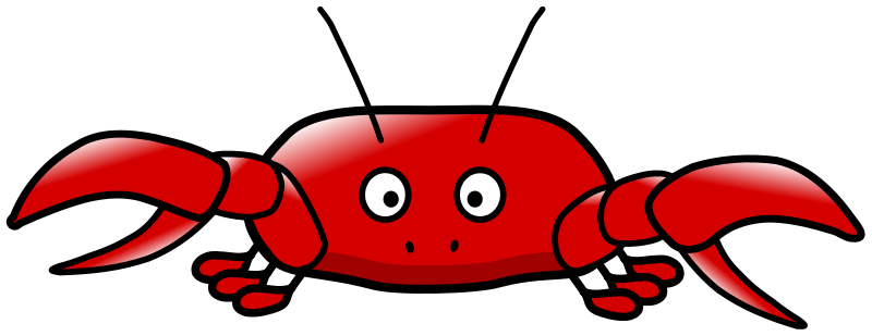 Crab clipart two animal. Free cliparting com