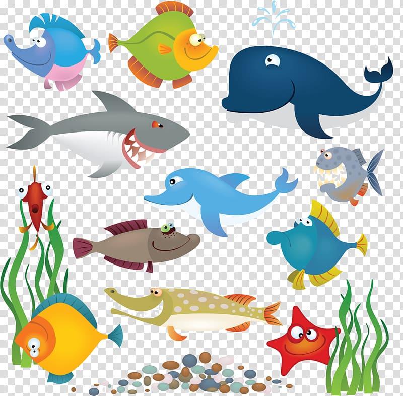 Cartoon fishing transparent background. Crab clipart underwater