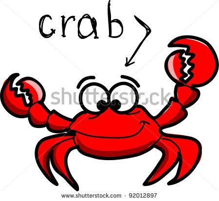 Cartoon illustration tattoo . Crab clipart vector