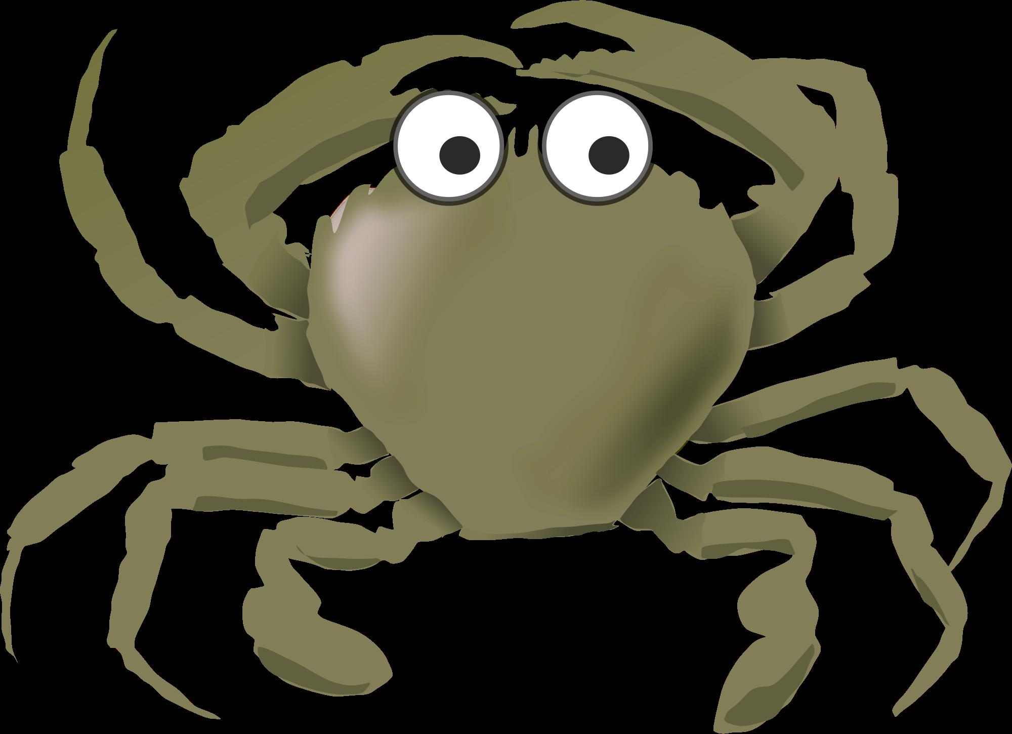 Crab clipart yellow crab. Cartoon green icons png