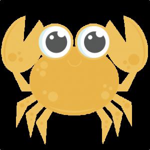 Crab clipart yellow crab. Svg mar oceano playa