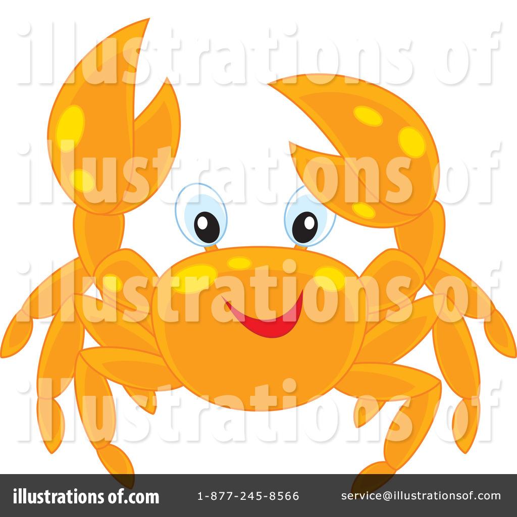Illustration by alex bannykh. Crab clipart yellow crab