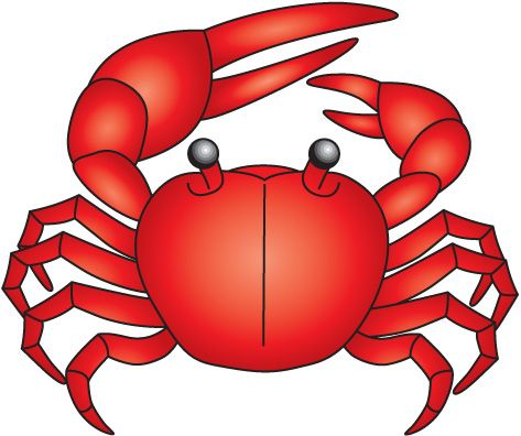 Family and friends crab. Crabs clipart