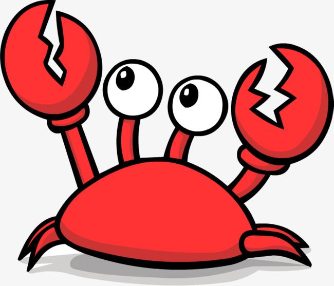 Big eyes cute crab. Crabs clipart