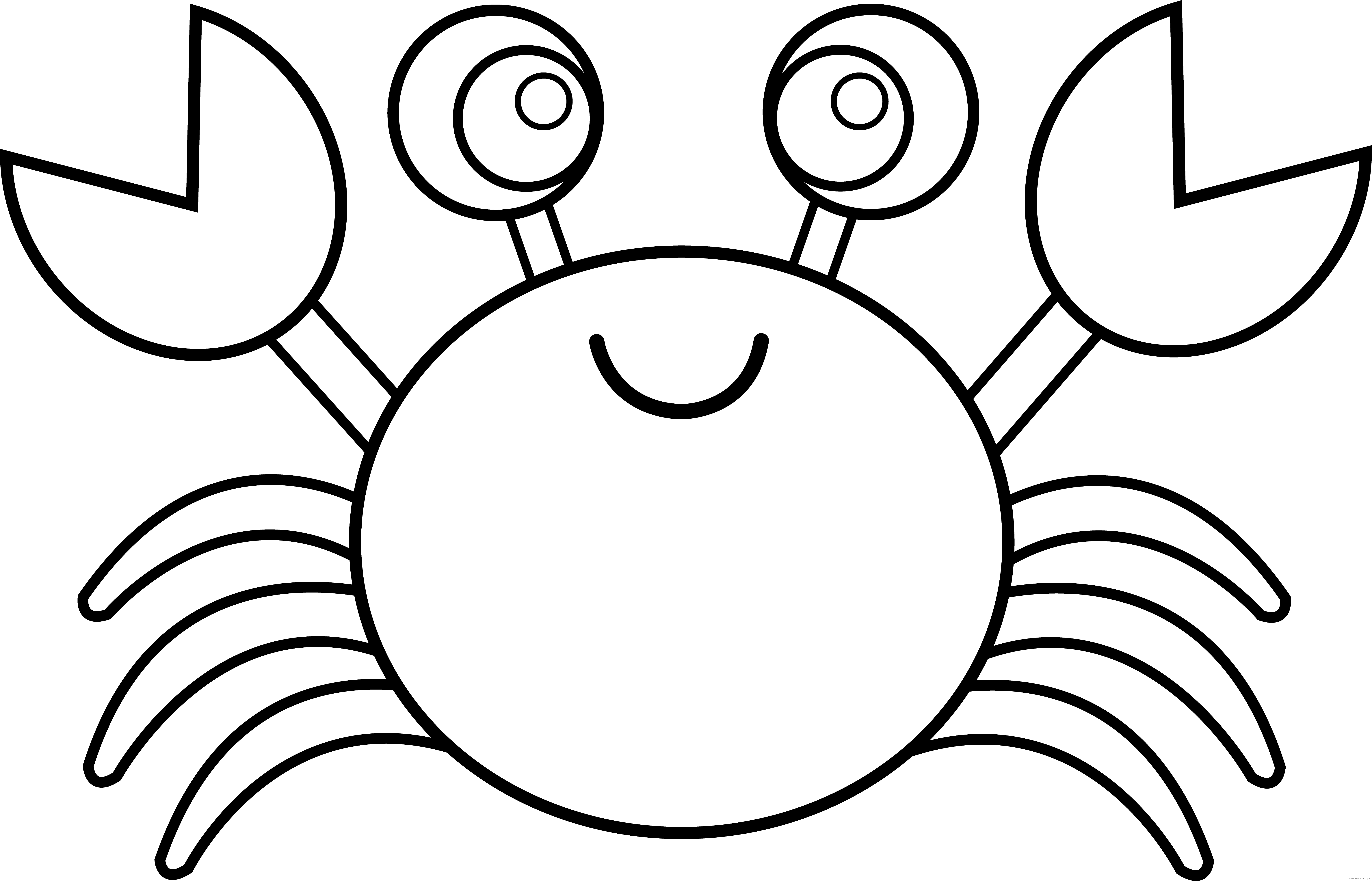 Crab page of clipartblack. Crabs clipart black and white
