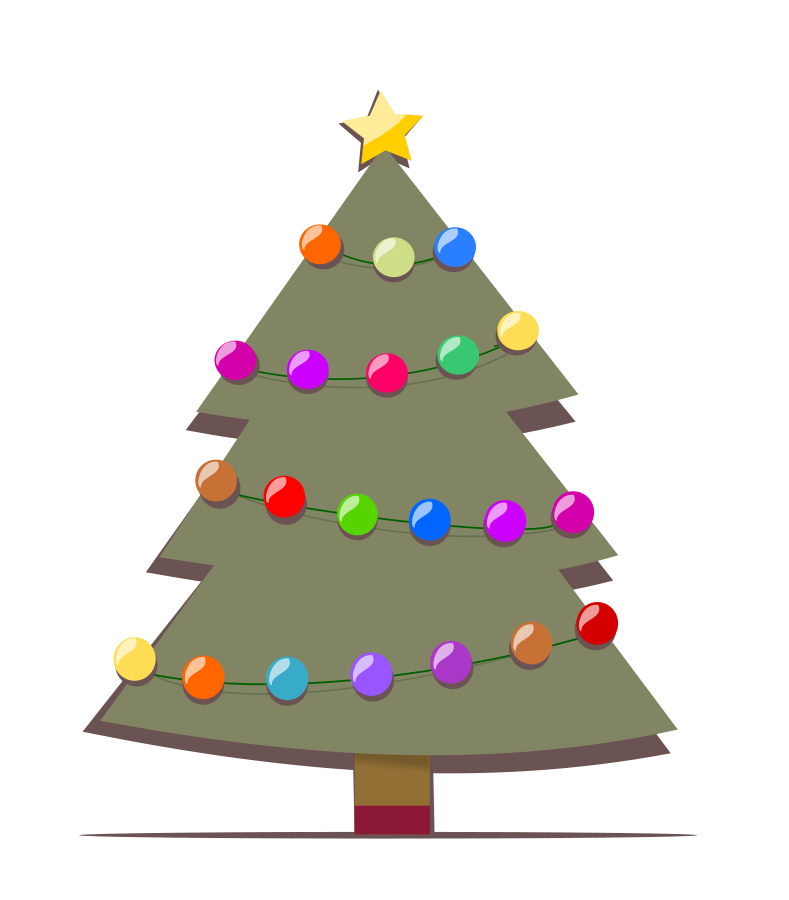 Crabs clipart christmas. Free outline of tree