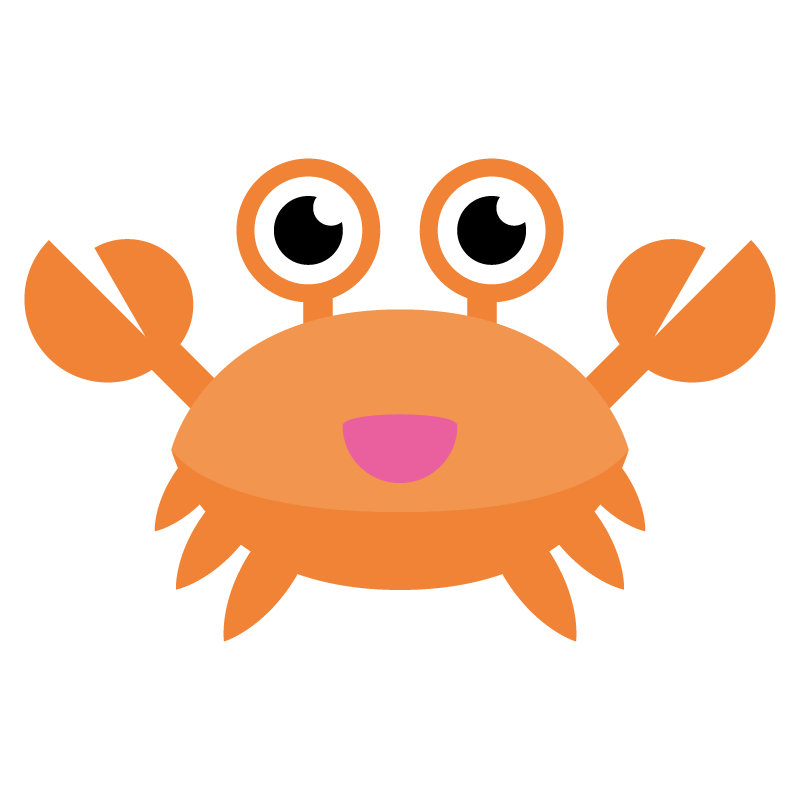 Crabs clipart coconut crab. Animation cangrejo transprent png