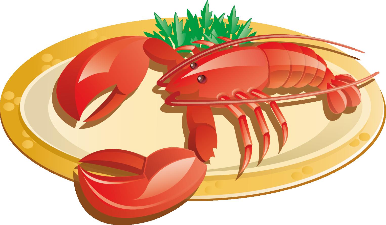 Lobster clipart lobster dish. Crab clip art transprent