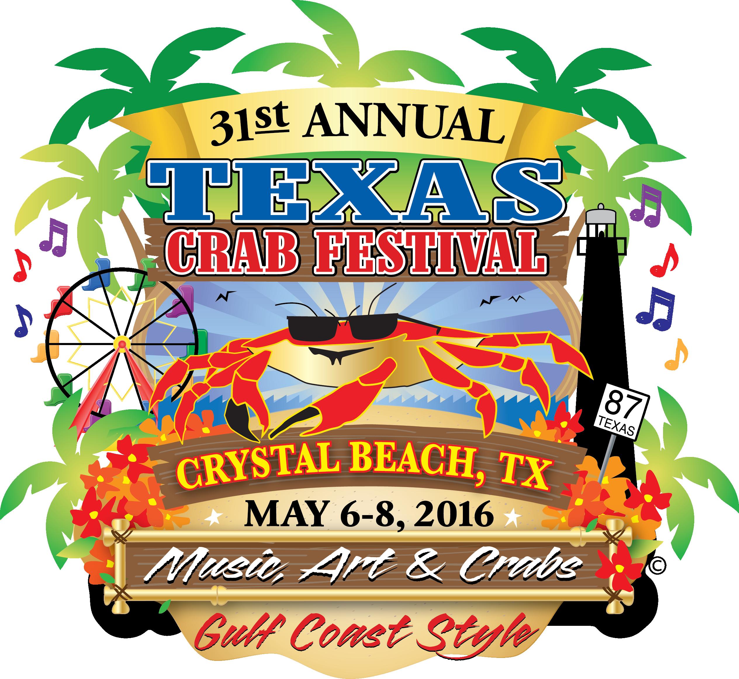 Crabs clipart crab feast. Texas festival gregory park