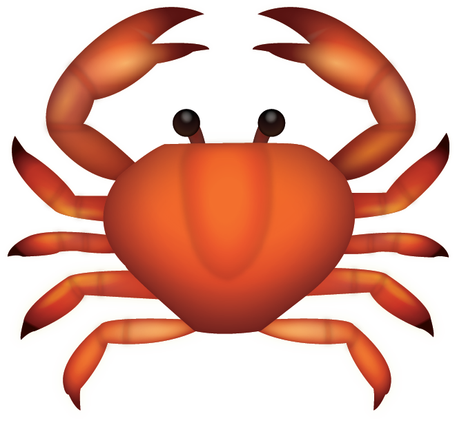 Download crab iphone emoji. Crabs clipart crabby