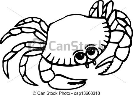 Crabs clipart drawn. Of beach crab simple