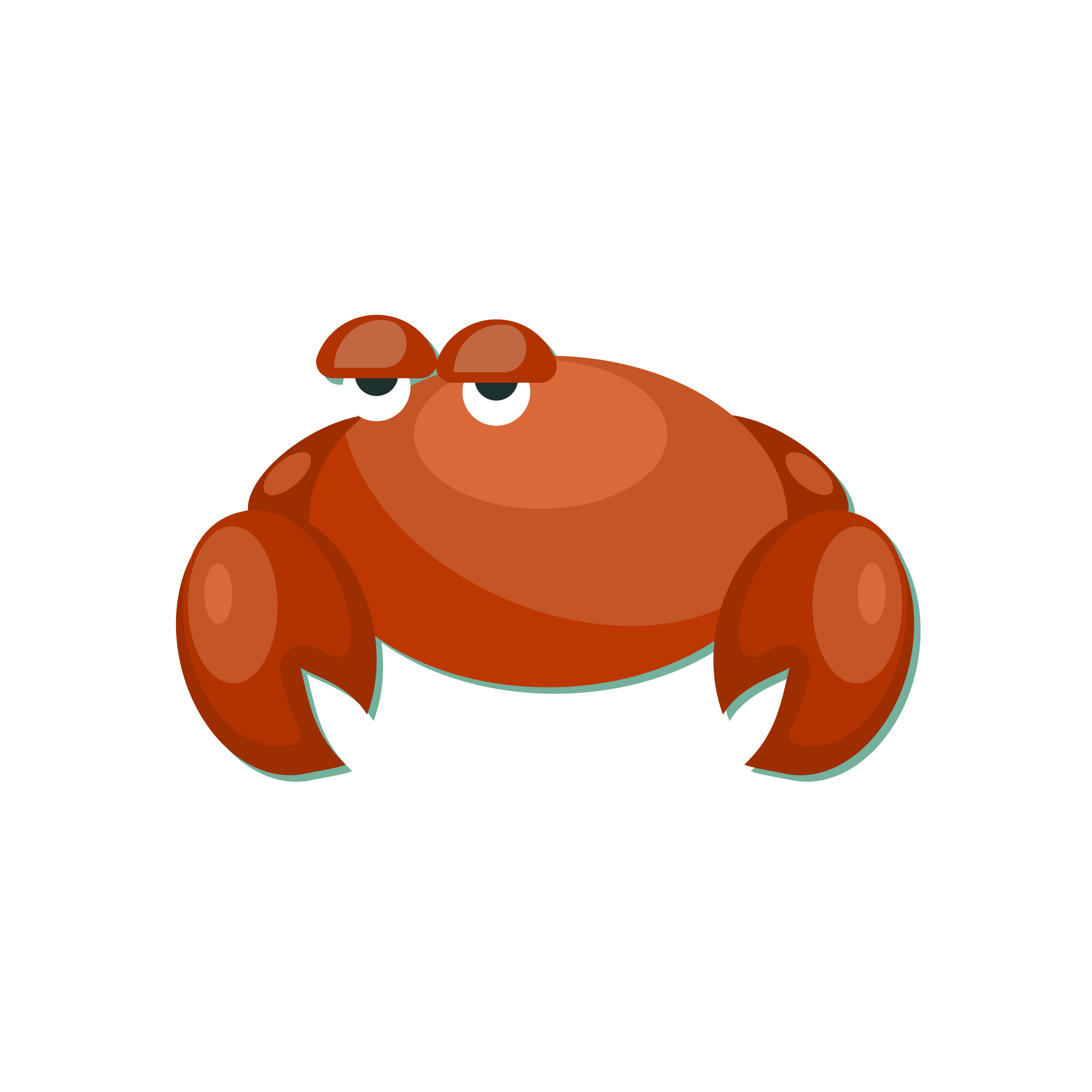 Crab clipart eye. Cdr staring eyes red