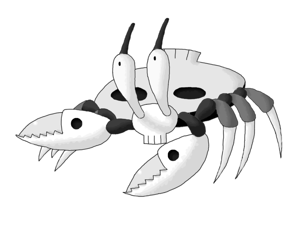 Contest entry by smiley. Crabs clipart ghost crab