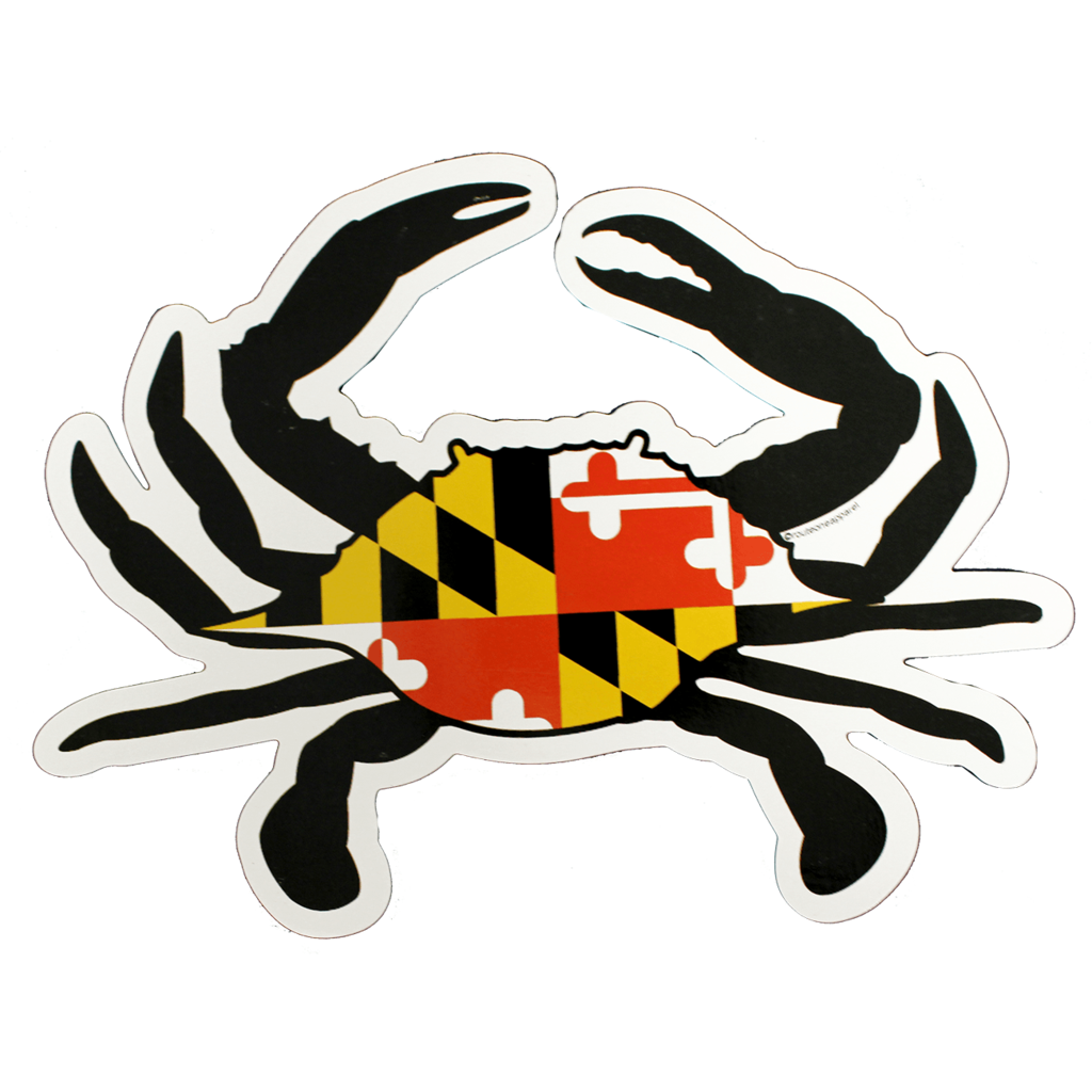 Flag crab magnet . Crabs clipart maryland live