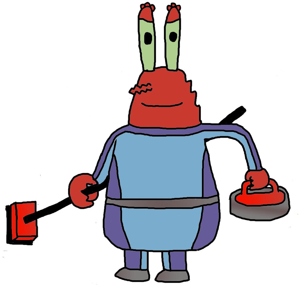 Crabs clipart mr crab. Image krabs curling png