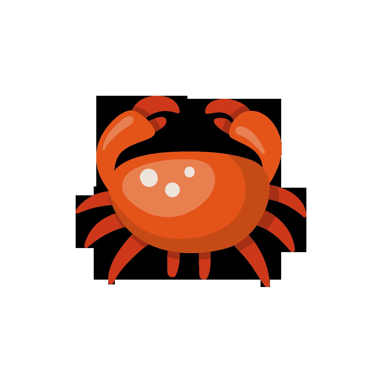 Cartoon clip art red. Crabs clipart orange crab