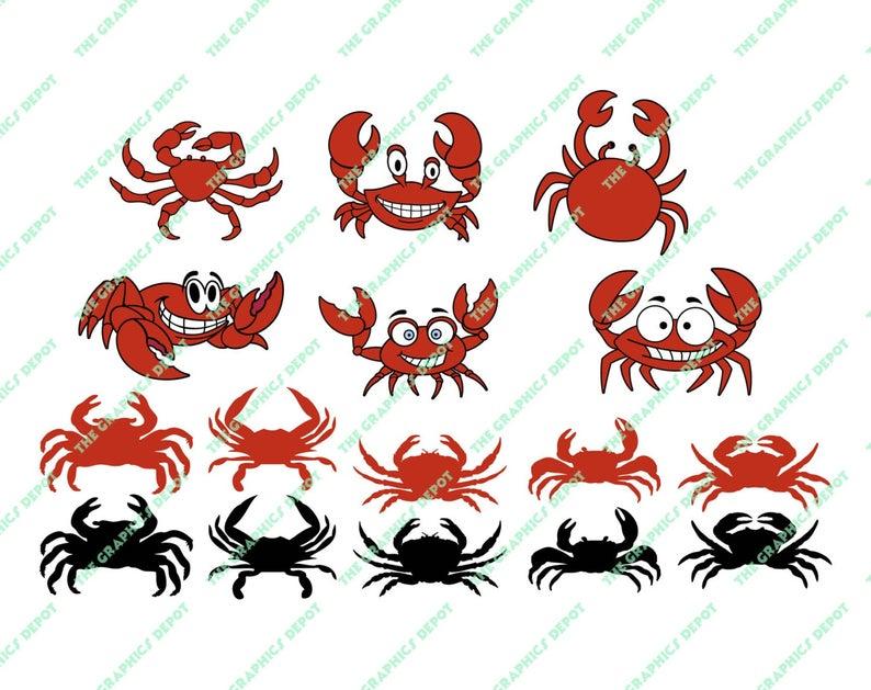Crabs clipart pdf. Crab svg dxf studio