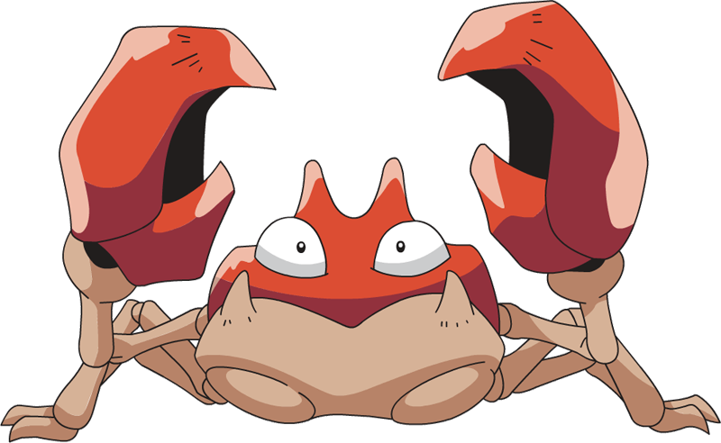 Krabby pok dex stats. Crabs clipart pincer