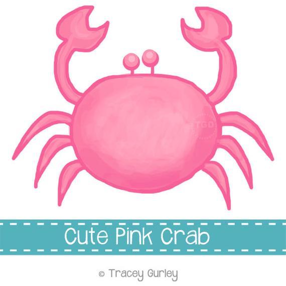 Preppy original art download. Crabs clipart pink crab