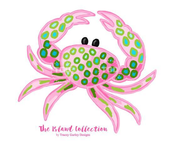 Crab clip art original. Crabs clipart preppy