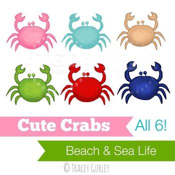 Cute set of crab. Crabs clipart preppy