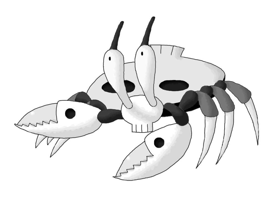 Ghost contest entry by. Crabs clipart sand crab