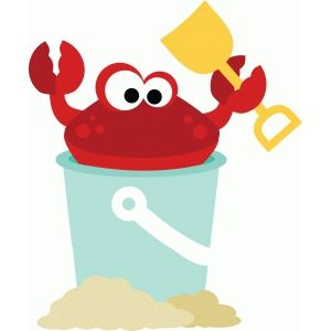 Crabs clipart summer. Crab in sand pail
